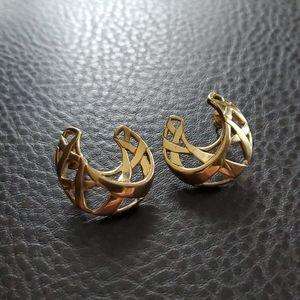 VTG Crown Trifari earrings